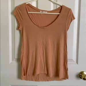 UO Truly Madly Deeply Distressed Nude Top